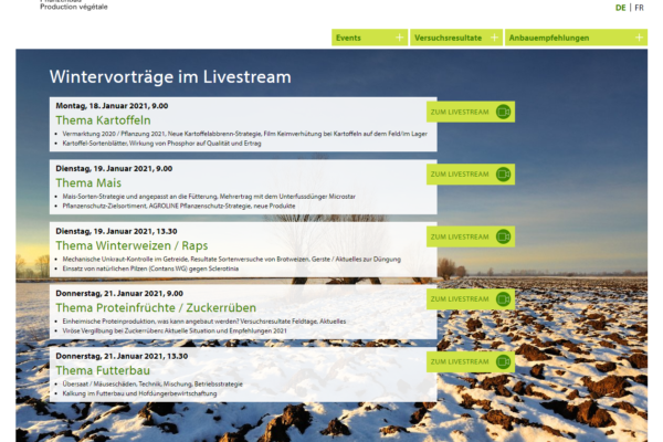 Get latest news on crop.zone at fenaco's live event